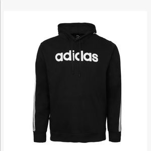 NWT Mens Adidas Black Logo Lettered Hoodie